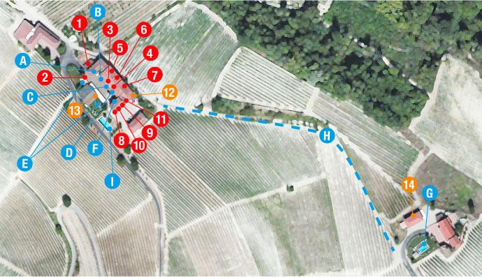 Agriturismo map Ada Nada Treiso